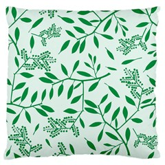 Leaves Foliage Green Wallpaper Large Flano Cushion Case (two Sides)