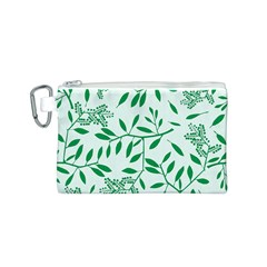 Leaves Foliage Green Wallpaper Canvas Cosmetic Bag (s)