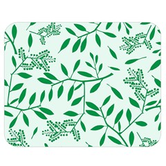 Leaves Foliage Green Wallpaper Double Sided Flano Blanket (medium)