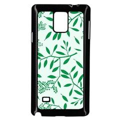 Leaves Foliage Green Wallpaper Samsung Galaxy Note 4 Case (black)