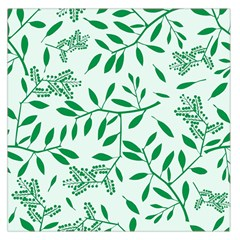 Leaves Foliage Green Wallpaper Large Satin Scarf (square)