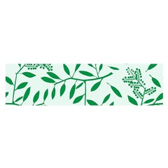 Leaves Foliage Green Wallpaper Satin Scarf (oblong)