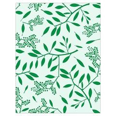 Leaves Foliage Green Wallpaper Drawstring Bag (large)
