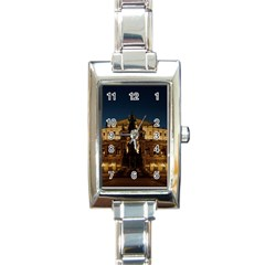 Dresden Semper Opera House Rectangle Italian Charm Watch