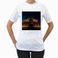 Dresden Semper Opera House Women s T Shirt (white) (two Sided)