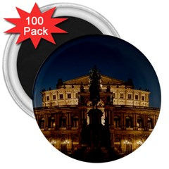 Dresden Semper Opera House 3  Magnets (100 Pack)