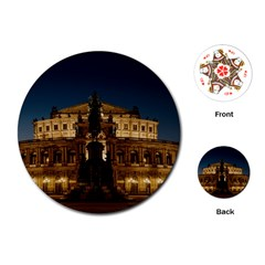 Dresden Semper Opera House Playing Cards (round)
