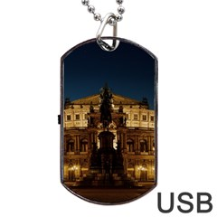Dresden Semper Opera House Dog Tag Usb Flash (one Side)