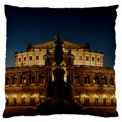 Dresden Semper Opera House Large Cushion Case (one Side)