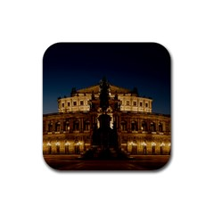 Dresden Semper Opera House Rubber Square Coaster (4 Pack)