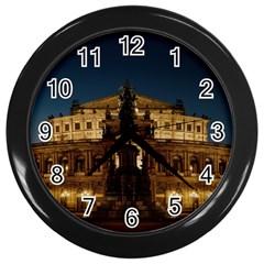 Dresden Semper Opera House Wall Clocks (black)