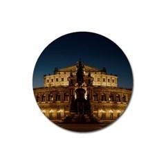 Dresden Semper Opera House Magnet 3  (round)