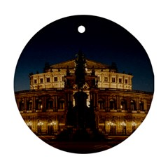 Dresden Semper Opera House Round Ornament (two Sides)