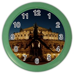 Dresden Semper Opera House Color Wall Clocks