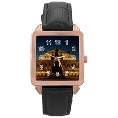 Dresden Semper Opera House Rose Gold Leather Watch