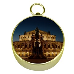 Dresden Semper Opera House Gold Compasses