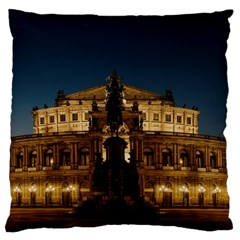 Dresden Semper Opera House Large Flano Cushion Case (two Sides)