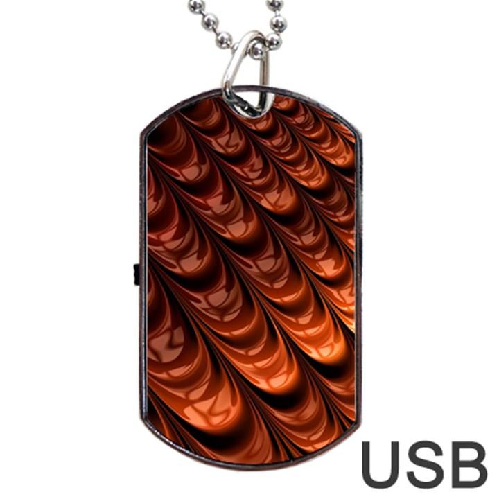 Fractal Mathematics Frax Dog Tag USB Flash (One Side)