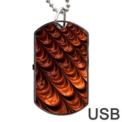 Fractal Mathematics Frax Dog Tag USB Flash (Two Sides)
