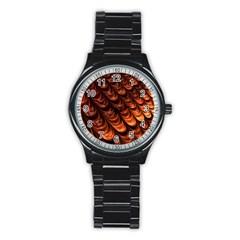 Fractal Mathematics Frax Stainless Steel Round Watch