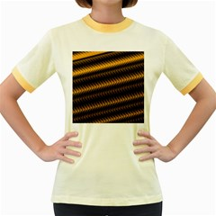 Ornament Stucco Close Pattern Art Women s Fitted Ringer T Shirts