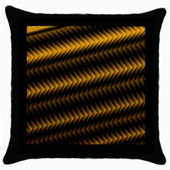 Ornament Stucco Close Pattern Art Throw Pillow Case (Black)