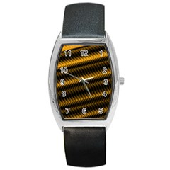 Ornament Stucco Close Pattern Art Barrel Style Metal Watch