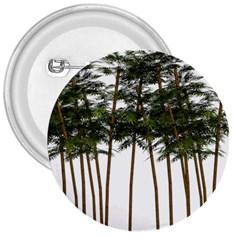 Bamboo Plant Wellness Digital Art 3  Buttons