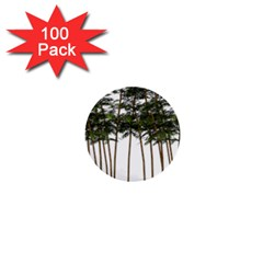 Bamboo Plant Wellness Digital Art 1  Mini Buttons (100 Pack)