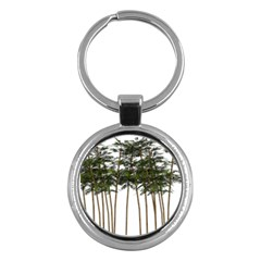 Bamboo Plant Wellness Digital Art Key Chains (round)