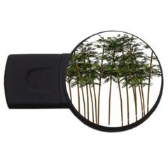 Bamboo Plant Wellness Digital Art Usb Flash Drive Round (4 Gb)