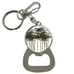 Bamboo Plant Wellness Digital Art Button Necklaces