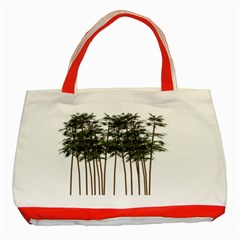 Bamboo Plant Wellness Digital Art Classic Tote Bag (red)
