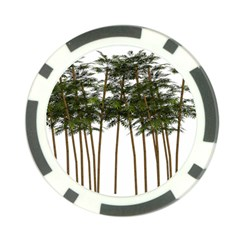 Bamboo Plant Wellness Digital Art Poker Chip Card Guards