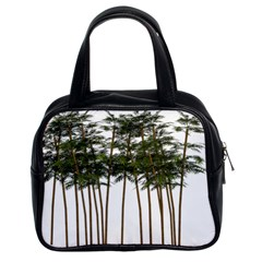 Bamboo Plant Wellness Digital Art Classic Handbags (2 Sides)