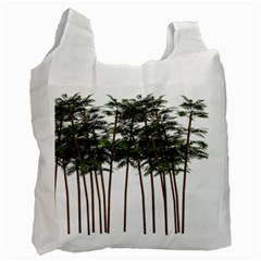Bamboo Plant Wellness Digital Art Recycle Bag (two Side)