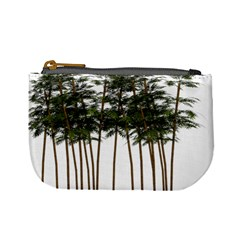 Bamboo Plant Wellness Digital Art Mini Coin Purses