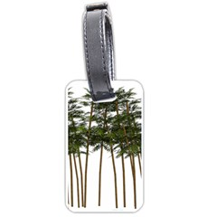 Bamboo Plant Wellness Digital Art Luggage Tags (two Sides)