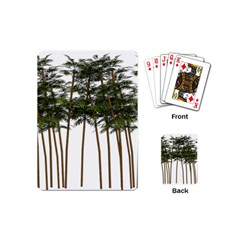Bamboo Plant Wellness Digital Art Playing Cards (mini)