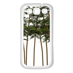 Bamboo Plant Wellness Digital Art Samsung Galaxy S3 Back Case (white)