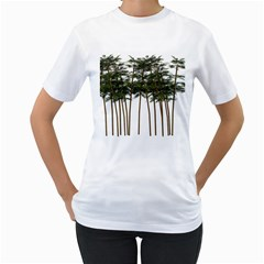 Bamboo Plant Wellness Digital Art Women s T Shirt (white)