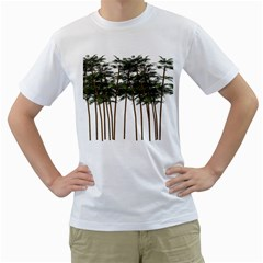 Bamboo Plant Wellness Digital Art Men s T Shirt (white)