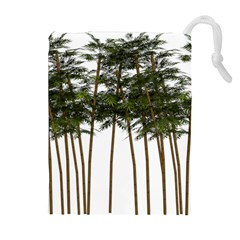 Bamboo Plant Wellness Digital Art Drawstring Pouches (extra Large)