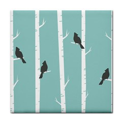 Birds Trees Birch Birch Trees Tile Coasters