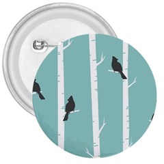 Birds Trees Birch Birch Trees 3  Buttons