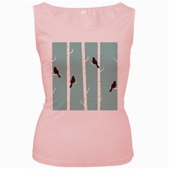 Birds Trees Birch Birch Trees Women s Pink Tank Top