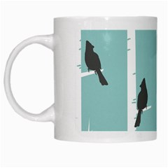 Birds Trees Birch Birch Trees White Mugs