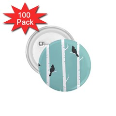 Birds Trees Birch Birch Trees 1 75  Buttons (100 Pack)