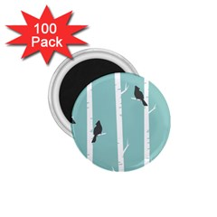 Birds Trees Birch Birch Trees 1 75  Magnets (100 Pack)