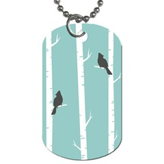 Birds Trees Birch Birch Trees Dog Tag (One Side)